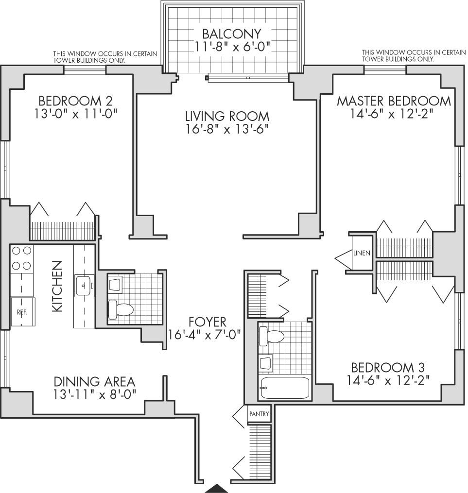 3 Bedroom Apartment Nyc: Tower